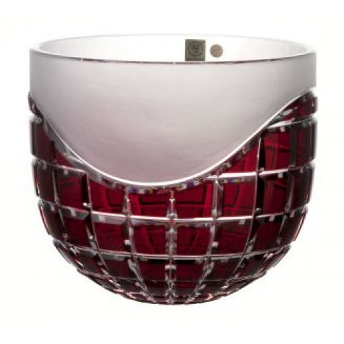 Crystal bowl Neron, color ruby, diameter 200 mm