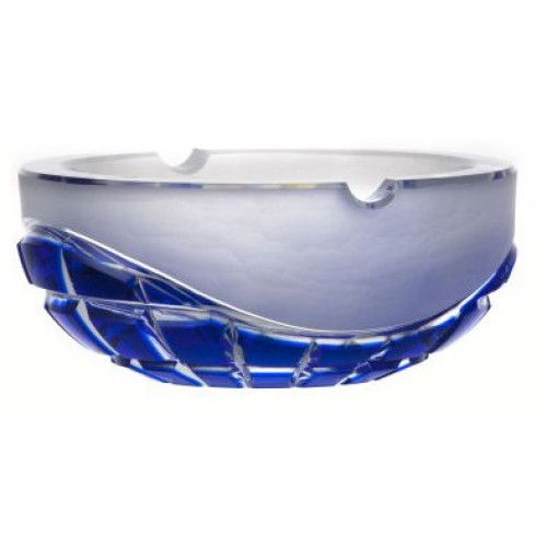 Crystal ashtray Neron, color blue, diameter 160 mm