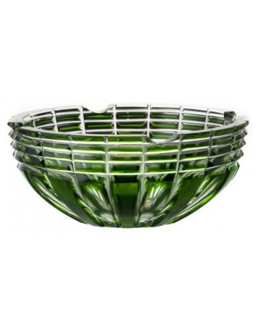 Crystal ashtray Nora, color green, diameter 185 mm