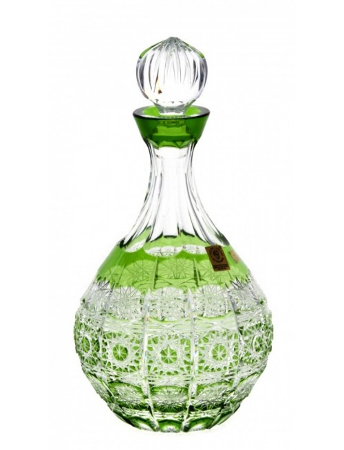 Crystal Bottle Paula, color green, volume 500 ml
