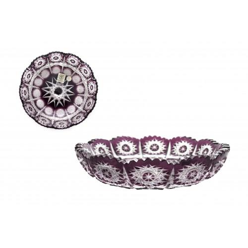 Crystal plate Paula, color violet, diameter 146 mm