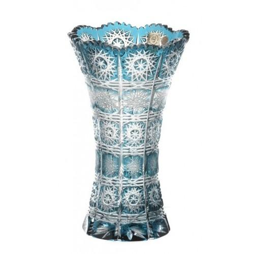 Crystal Vase Paula II, color azure, height 205 mm