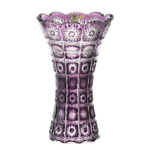 Crystal Vase Paula, color violet, height 255 mm