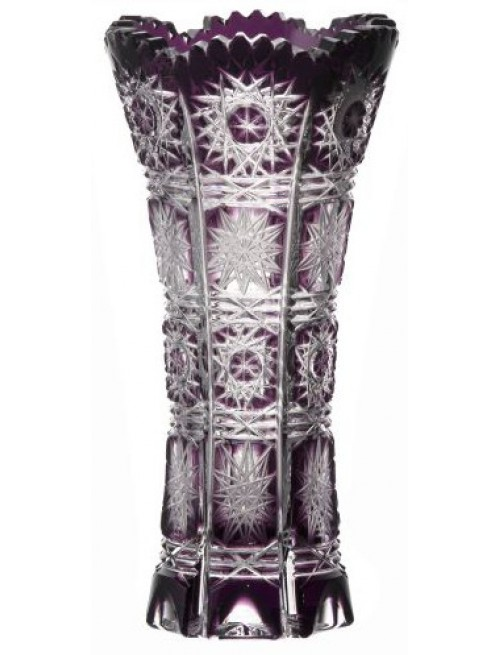 Crystal Vase Paula, color violet, height 150 mm