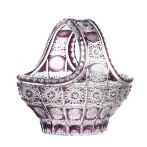Crystal Basket Paula, color violet, diameter 200 mm