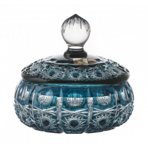 Crystal Box Petra, color azure, height 128 mm