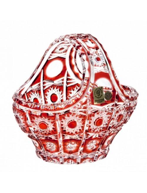 Crystal Basket Petra, color ruby, diameter 150 mm