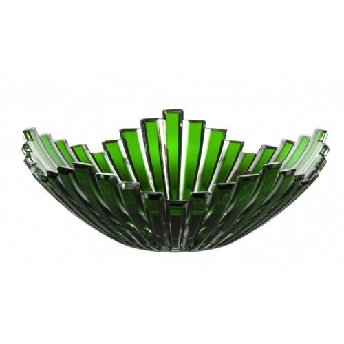 Crystal Bowl Mikado, color green, diameter 230 mm