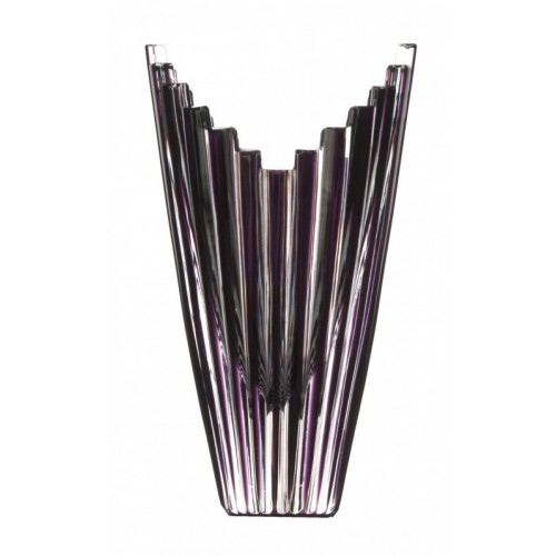 Crystal Vase Mikado, color violet, height 155 mm