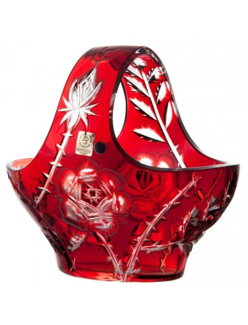 Crystal basket Rose, color rose, diameter 200 mm