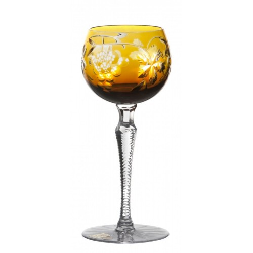 Crystal Wine Glass Grapes, color amber, volume 190 ml
