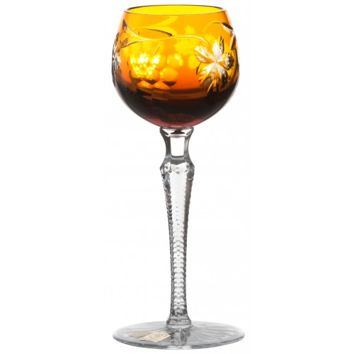 Crystal wine glass Grapes, color amber, volume 170 ml