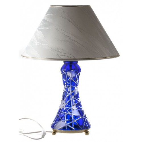 Crystal lamp Mars, color blue, height 270 mm