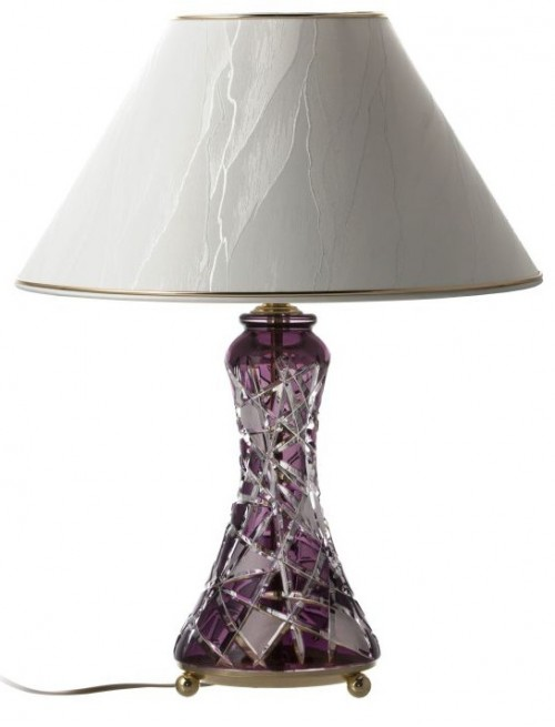 Crystal lamp Mars, color violet, height 270 mm