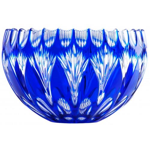 Crystal Bowl Zora, color blue, diameter 250 mm