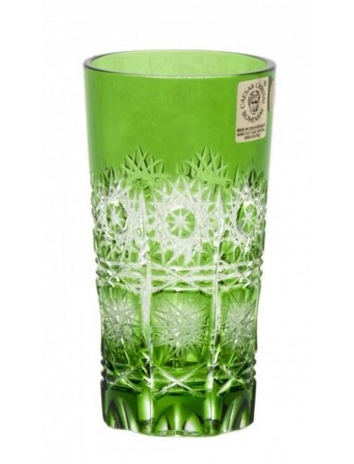 Crystal Glass Paula, color green, volume 100 ml