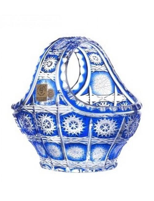 Crystal Basket Paula, color blue, diameter 150 mm