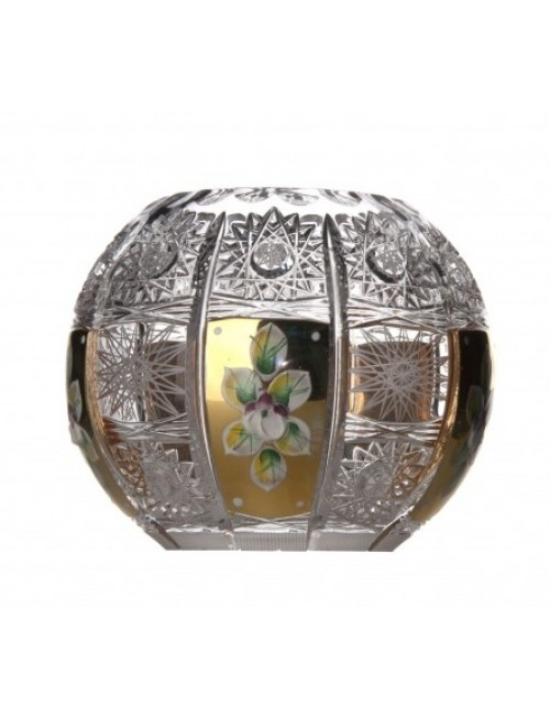 Crystal Vase 500K gold, color clear crystal, height 132 mm