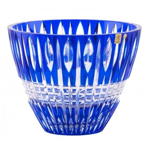 Crystal Bowl Denver, color blue, diameter 260 mm