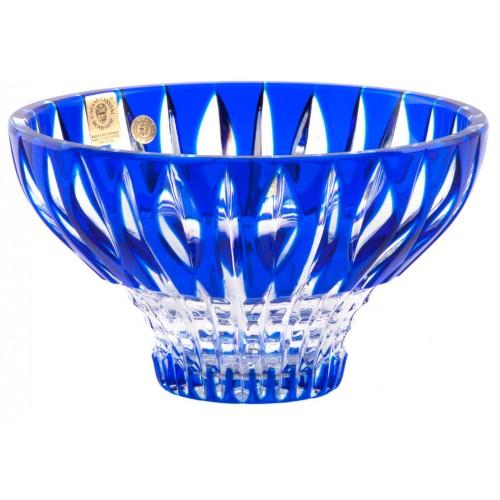 Crystal Bowl Denver, color blue, diameter 165 mm