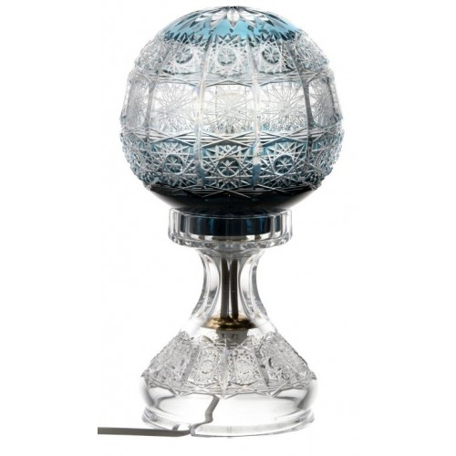 Crystal lamp Paula, color azure, height 305 mm