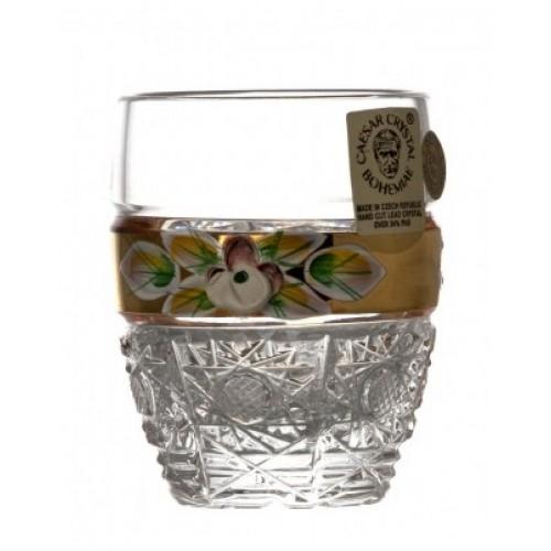 Crystal Shot Glass 500K gold I, color clear crystal, volume 50 ml