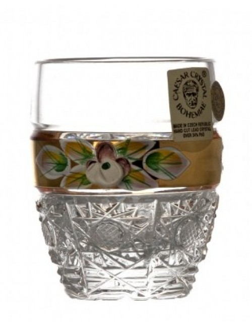 Crystal Shot Glass 500K gold I, color clear crystal, volume 50 ml