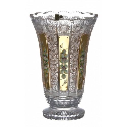 Crystal Vase 500K gold I, color clear crystal, height 305 mm