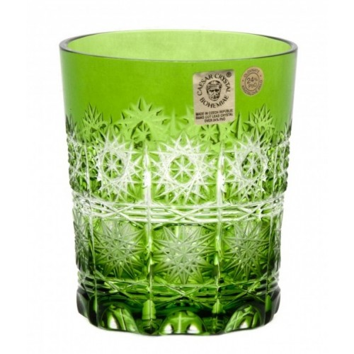 Crystal Glass Paula, color green, volume 290 ml