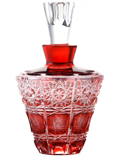 Crystal Perfume Bottle Paula, color ruby, volume 170 ml