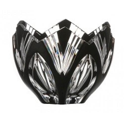 Crystal bowl Lotos, color black, diameter 85 mm
