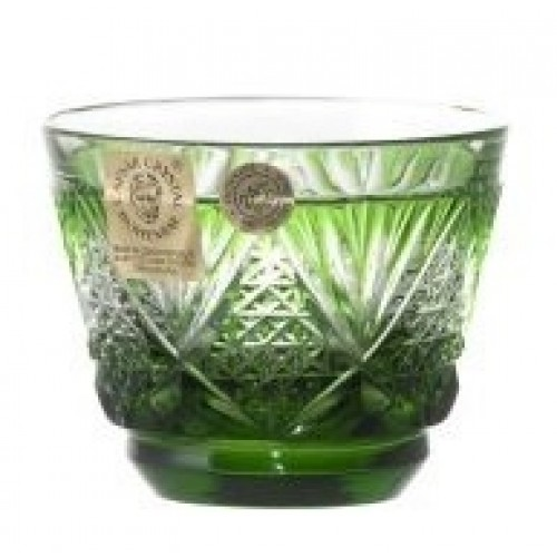 Crystal Shot Glass Sun, color green, volume 65 ml