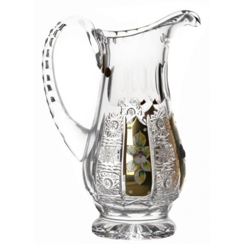 Crystal pitcher 500K gold, color clear crystal, volume 550 ml