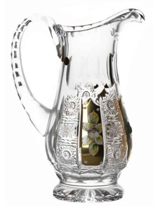 Crystal pitcher 500K gold, color clear crystal, volume 550 ml