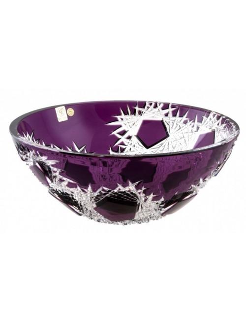 Crystal Bowl Frost, color violet, diameter 280 mm