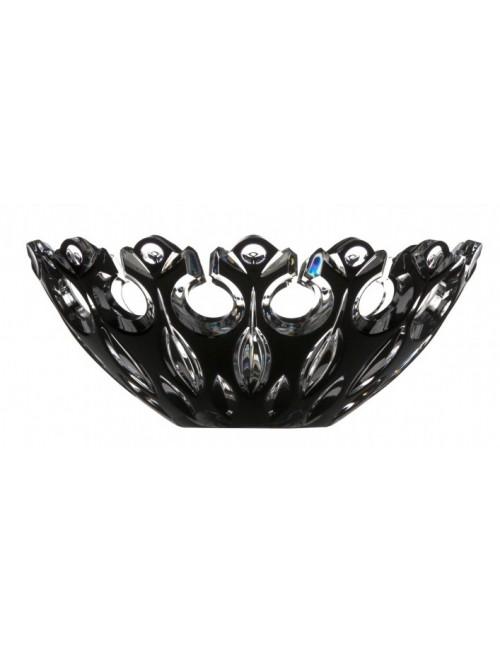 Crystal Bowl Flamenco, color black, diameter 280 mm
