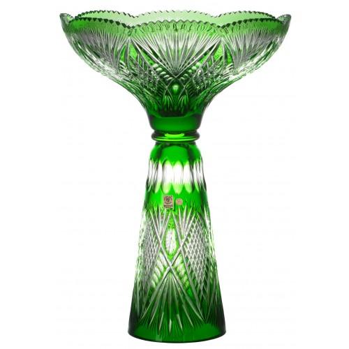 Crystal vase Gabriela, color green, height 465 mm