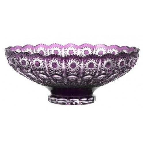 Crystal Bowl Petra, color violet, diameter 305 mm