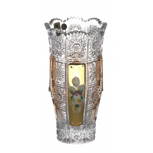 Crystal Vase 500K gold II, color clear crystal, height 180 mm