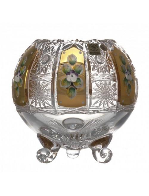 Crystal Vase 500K gold I, color clear crystal, height 150 mm