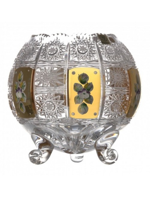 Crystal Vase 500K gold, color clear crystal, height 175 mm