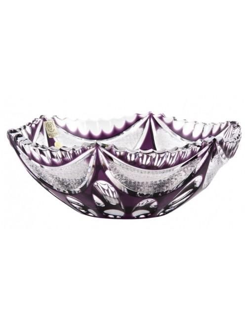 Crystal Bowl Ingrid, color violet, diameter 230 mm
