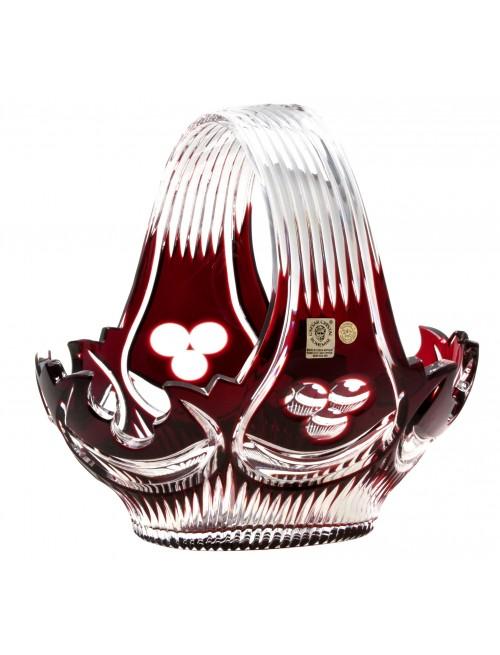 Crystal basket Diadem, color ruby, diameter 230 mm