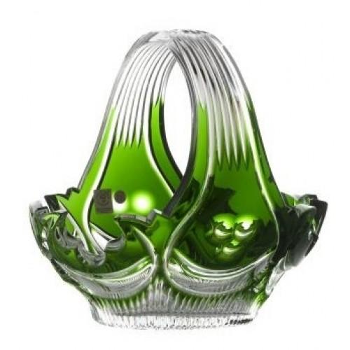 Crystal Basket Diadem, color green, diameter 230 mm