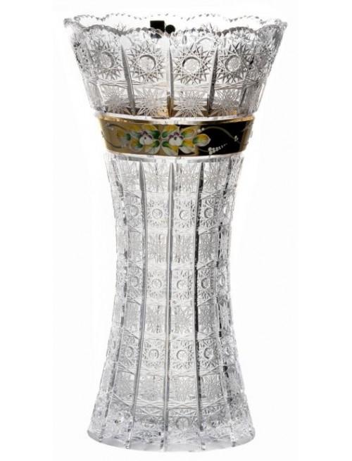Crystal Vase 500K gold, color clear crystal, height 410 mm