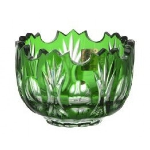 Crystal Bowl Dandelion, color green, diameter 95 mm