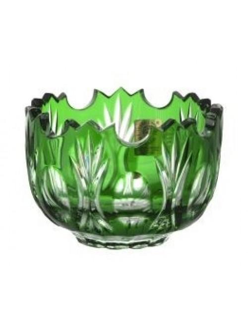 Crystal Bowl Dandelion, color green, diameter 95 mm