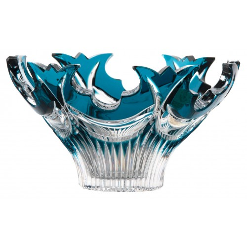 Crystal bowl Diadem, color azure, diameter 165 mm
