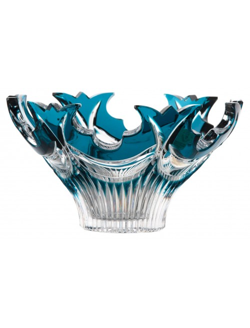 Crystal bowl Diadem, color azure, diameter 165 mm