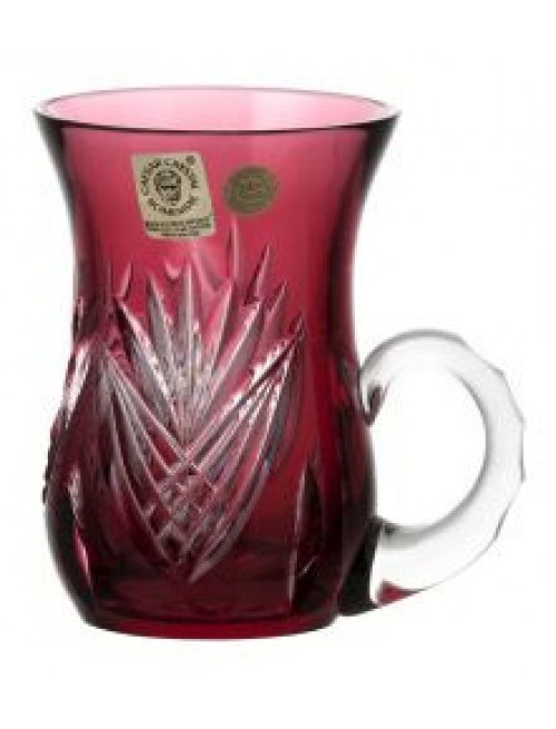 Crystal cup Janette, color ruby, volume 100 ml
